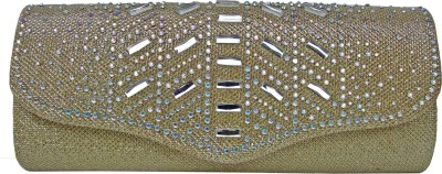 Metha Casual Gold  Clutch at flipkart