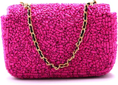 Diwaah Party Pink  Clutch at flipkart