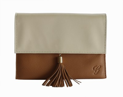 Gripp Women Casual, Party, Formal Tan, Beige  Clutch