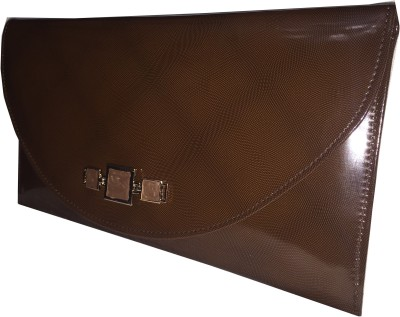 Apnav Women Casual, Formal, Party Brown  Clutch