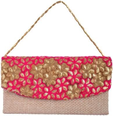 Arisha Kreation Co Women Festive Pink  Clutch