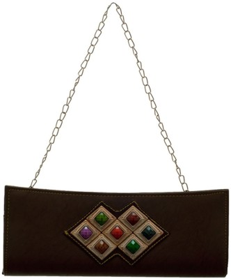 Hawai Women Casual, Formal Brown  Clutch