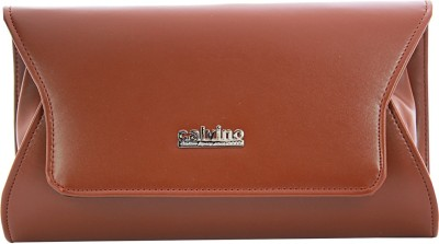 Calvino Women Casual, Formal Brown  Clutch