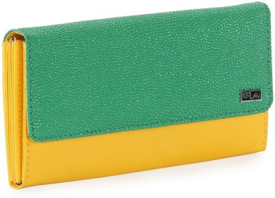 Goodwill Leather Art Women Casual, Festive, Formal, Party, Wedding Green, Yellow  Clutch