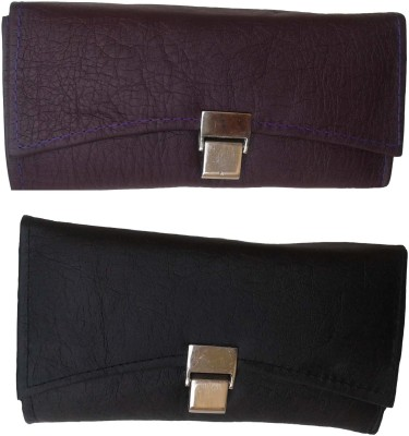 Goldeno Women Casual Purple, Black  Clutch