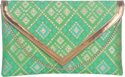 Sunbeams Women Casual Green  Clutch