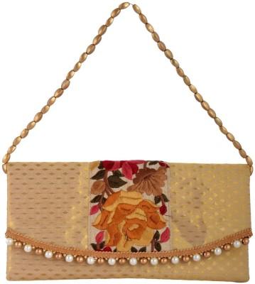 Arisha Kreation Co Women Festive Gold  Clutch