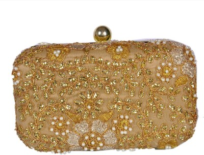 Duchess Women Wedding, Party, Casual, Festive Gold  Clutch