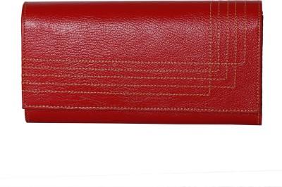 Alligate Women Formal Red  Clutch