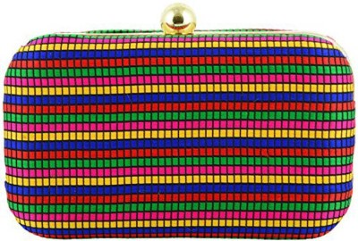 Duchess Women Party, Casual Multicolor, Gold  Clutch