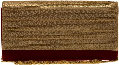 The Indian Handicraft Store Women Party Maroon  Clutch