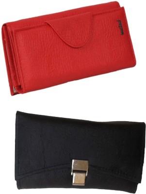 Goldeno Women Casual Red, Black  Clutch
