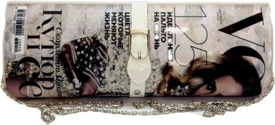 Russo Fashion Women Party, Casual White  Clutch