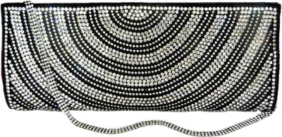 Kawaii Women Casual, Festive, Formal, Party, Sports, Wedding Silver, Black  Clutch