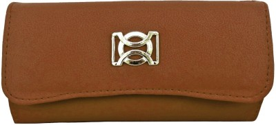 Purseonality Women Casual, Formal Tan  Clutch