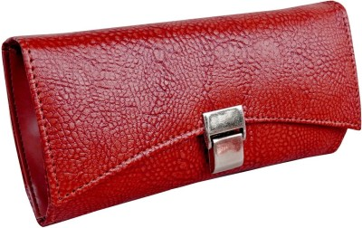 Purseonality Women Casual, Formal Maroon  Clutch