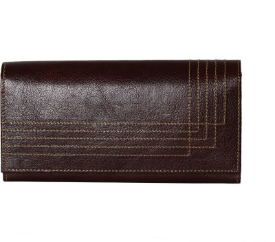 Alligate Women Formal Brown  Clutch