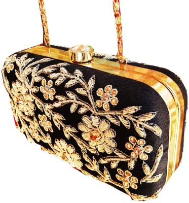 The Indian Handicraft Store Women Black  Clutch