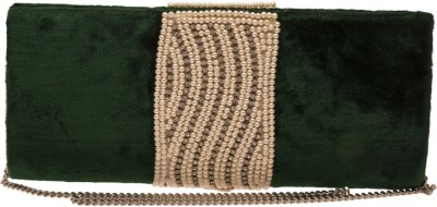 The Indian Handicraft Store Women Party Green  Clutch