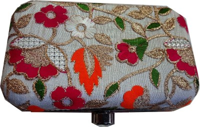 The Indian Handicraft Store Party White  Clutch at flipkart