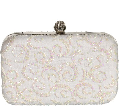 Duchess Women Wedding, Casual, Party White  Clutch
