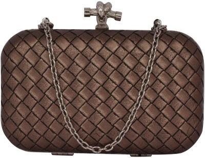 Mex Party Brown  Clutch at flipkart