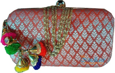 The Indian Handicraft Store Women Party Yellow  Clutch