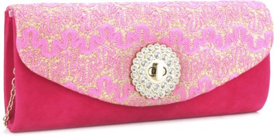 Archies Pink  Clutch at flipkart