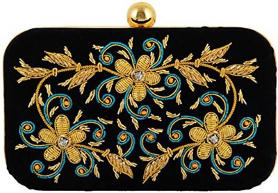 Duchess Women Wedding, Party Black, Gold  Clutch