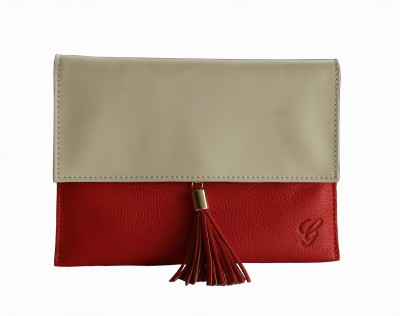 Gripp Women Casual, Party, Formal, Festive Red, White, Beige  Clutch