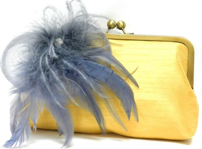 Saint Pure Women Party Yellow  Clutch