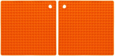 AND Retails Square Rubber Coaster Set(Pack of 2) at flipkart