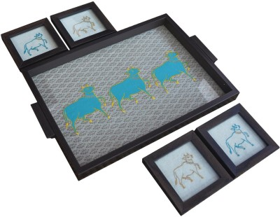 Craftghar Govardhan - Teal) Tray(5 Units) at flipkart