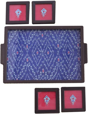 Craftghar Patola Blue Tray(5 Units) at flipkart