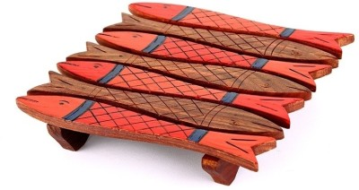 Indikala Square Wood Coaster(Pack of 1) at flipkart