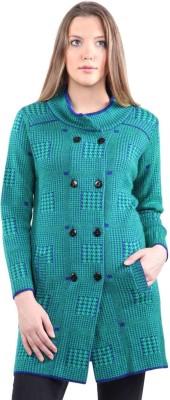 Montrex Acrylic Blend Embellished, Woven Coat