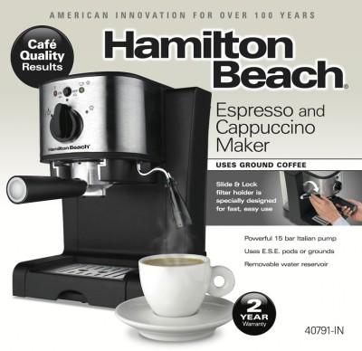 Hamilton-Beach-40791-IN-Espresso-&-Cappuccino-Maker