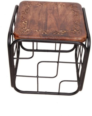 Onlineshoppee CAC Metal End Table(Finish Color - black)