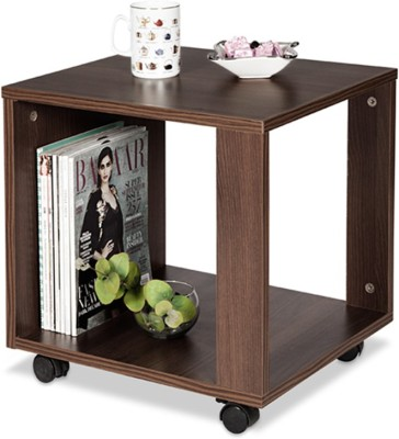 Debono Slim Coffee Table on Castors Engineered Wood Coffee Table(Finish Color - Brown)