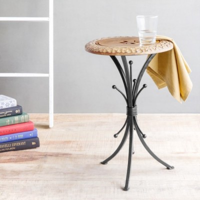 Onlineshoppee Solid Wood End Table(Finish Color - Walnut Brown)