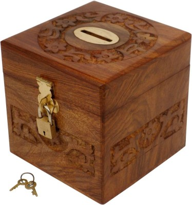 66 off on craftsman handmade wooden square money piggy for Handmade coin bank
