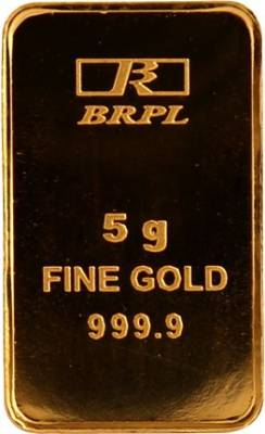 Bangalore Refinery Brpl Purity 24 (999) K 5 g Gold Bar