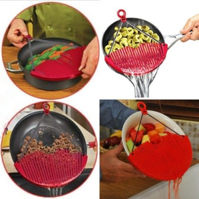 Saleh Better Strainer Collapsible Strainer(Red Pack of 1) at flipkart