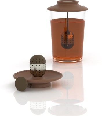 Bewater Tea Lid Strainer Classic - Brown Strainer(Brown Pack of 1) at flipkart