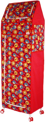 Amardeep Celebration PP Collapsible Wardrobe(Finish Color - Red)