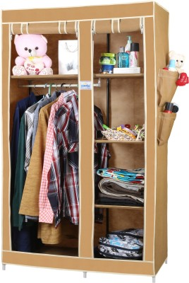 CbeeSo CB260 Stainless Steel Collapsible Wardrobe(Finish Color - Dark Beige)