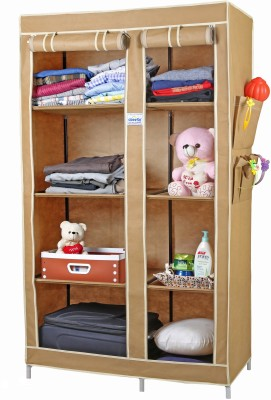 CbeeSo Carbon Steel Collapsible Wardrobe(Finish Color - Dark Beige)