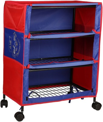 764f691cb Archana Archana Iron Folding Kids Almirah ( 3 Shelf) Carbon Steel  Collapsible Wardrobe(Finish Color - Blue)