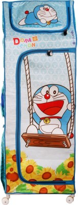 Doraemon Polyester Collapsible Wardrobe(Finish Color - Blue)