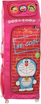 Doraemon Polyester Collapsible Wardrobe(Finish Color - Pink)